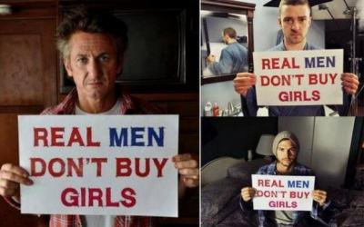 Аштън Къчър, Шон Пен, Брадли Купър: Истинските мъже не си купуват момичета (кампания в снимки и видео)
