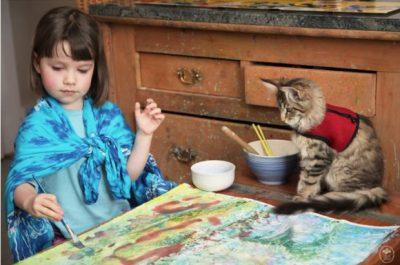 5-годишно момиче с аутизъм създава шедьоври