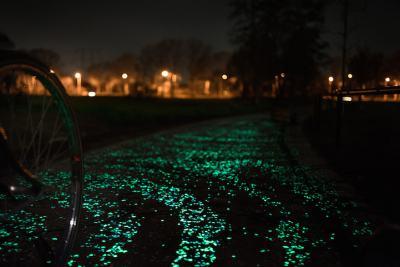 С колело сред Звездната нощ на Ван Гог