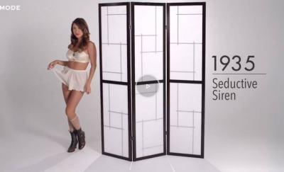 100 години мода на дамското бельо в 2 минути (видео)