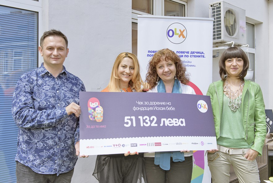 Donation check from OLX