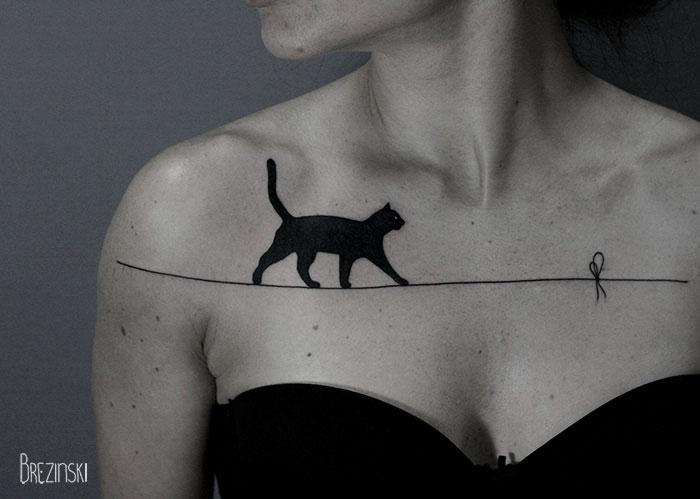 Сюрреалистични татуировки създадени с техниката на поантилизма
