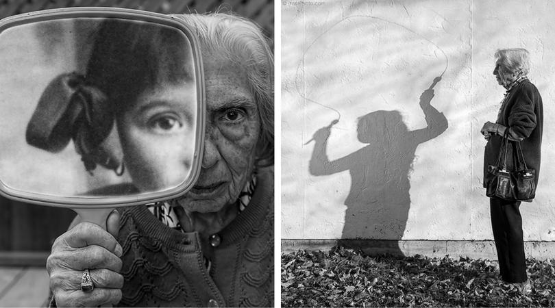 """Артист и 91-годишната му """"млада"""" майка създават чудни фотографии"""