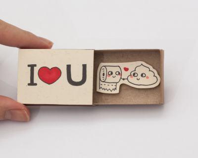 Любов, колкото… кибритена кутийка (идеи за по-различни картички)
