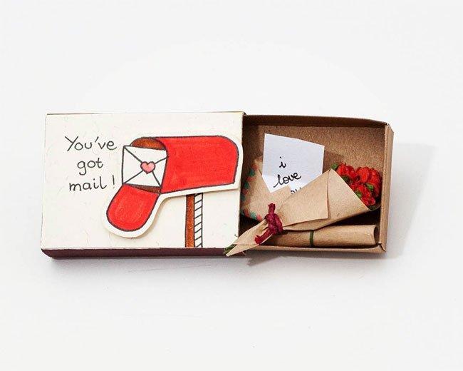 картичка - кибритена кутийка (идеи)
