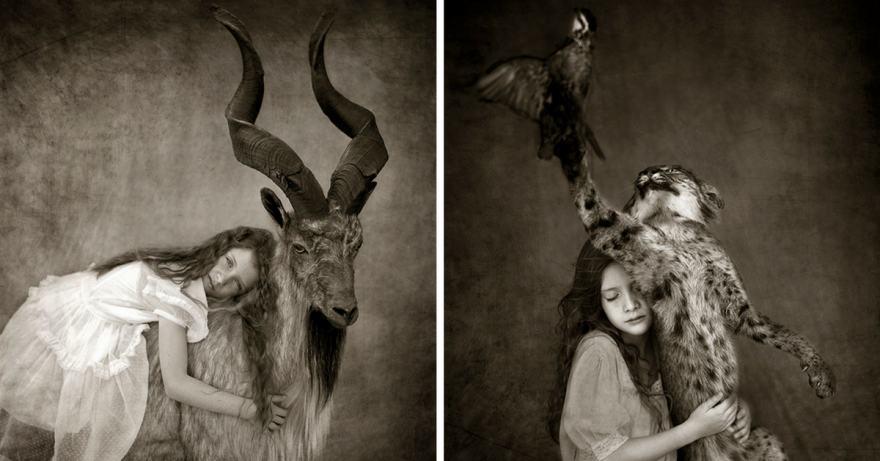черно-бели, удивителни портрети за връзката ни с дивата природа