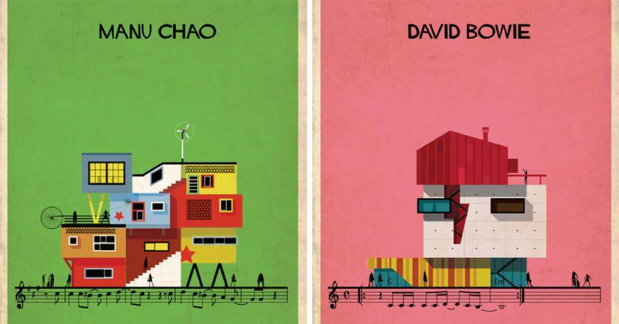 Ако музикантите бяха архитекти (илюстрации)
