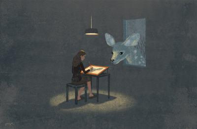 Сюрреалистични илюстрации, посветени на любовта към четенето, музиката, живописта…
