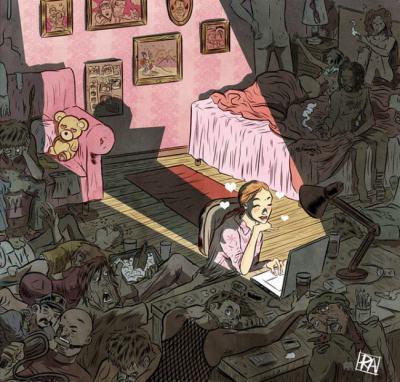 """19 """"язвителни"""" илюстрации от Рафаел Алварес, майстор на """"визуалните есета"""""""
