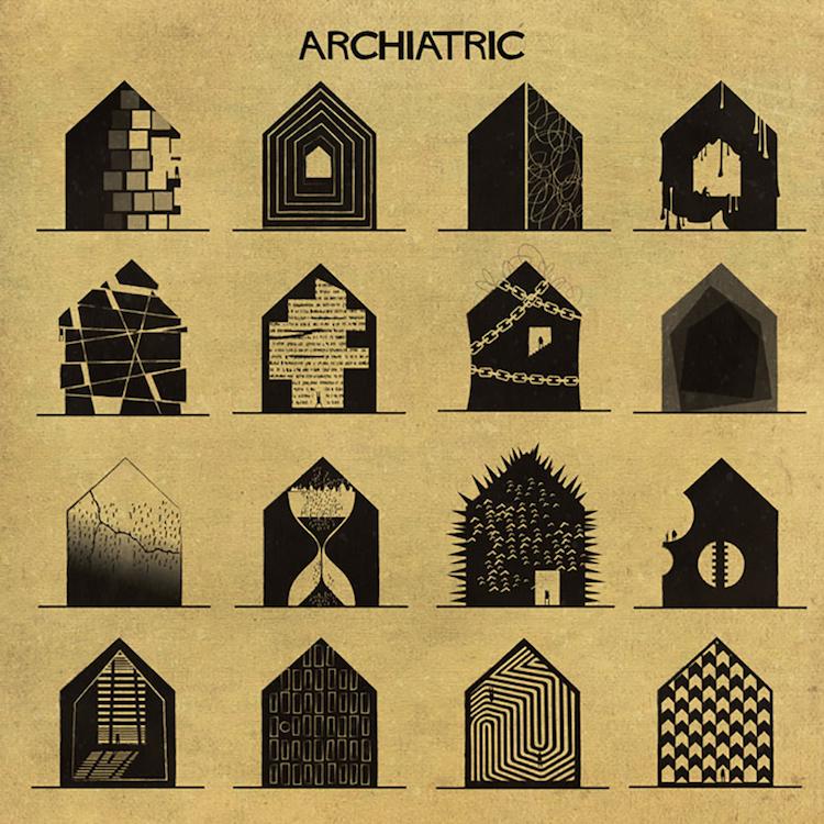 16 психични заболявания, изобразени като къщи