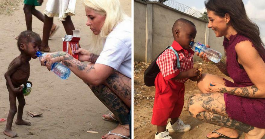 Нигерийското дете, оставено да умре от глад от родителите си, се възстанови и тръгна на училище (историята му в снимки и видео)