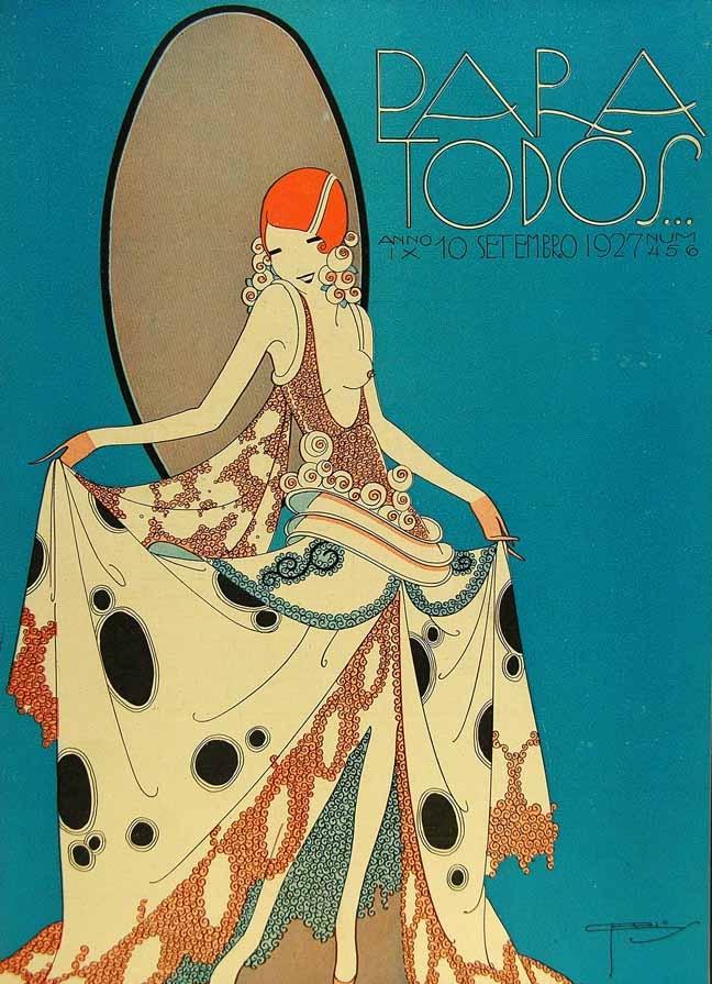 Забравени Ар деко красоти, открити в бразилско списание от 20-те (корици)