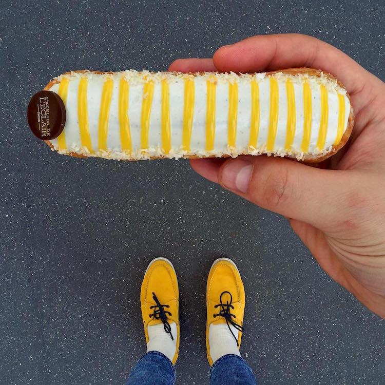 ДЕСЕРТитал в Париж: майстор-готвач умело съчетава парижки лакомства с цветните си обувки