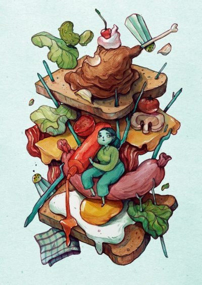 От наивистични до сатирични: приказните картини на Мария Тюрина