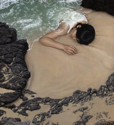 """Красотата на природата """"поглъща"""" хора (в серия сюрреалистични картини)"""