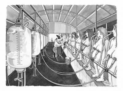 Dominion over Man: ирландската илюстраторка Barbara Daniels си представя свят, в който ролите на хора и животни са разменени