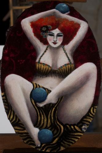 Цирково изкуство, бурлеска и кабаре – в наивистичните картини на La D'Jo