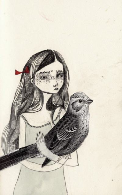 Меланхоличните (ярки) момичета на шотландската илюстраторка KT Smail