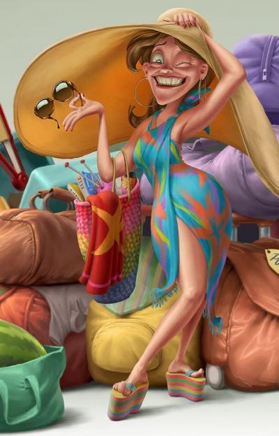Гротеска, нажежени страсти и фини детайли – в илюстрациите на чилиеца Oscar Ramos