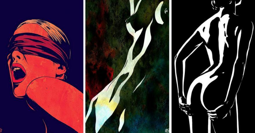 женските извивки - в илюстрациите на Giuseppe Cristiano