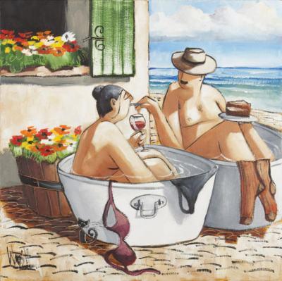 Веселите хора в маслените платна на  Роналд Мартин Уест  – художникът, избрал да рисува живота, който мечтаем
