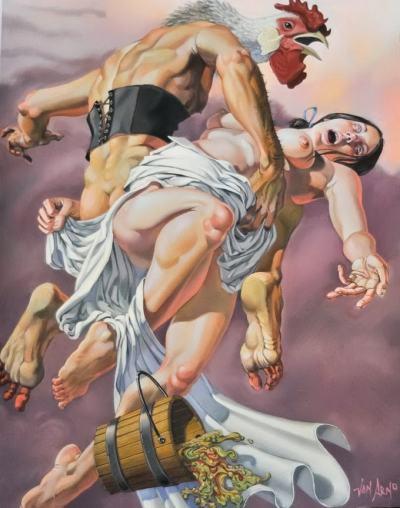 Поп култура, религия, фолклор, митология и гротеска – в картините на Van Arno