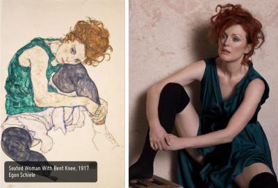 Портрет на една дама: Джулиан Мур позира за Питър Линдберг, пресъздавайки шедьоври на изобразителното изкуство
