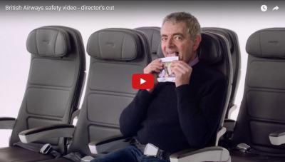 """Инструкциите за безопасност на British Airways са толкова """"бритиш"""", че дори си имат Мистър Бийн (видео)"""