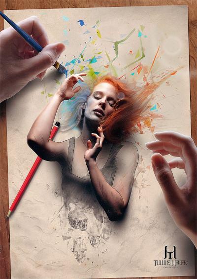 """Бразилски самоук артист създава картини, """"изскачащи"""" от листа, за да разкажат мрачна приказка"""