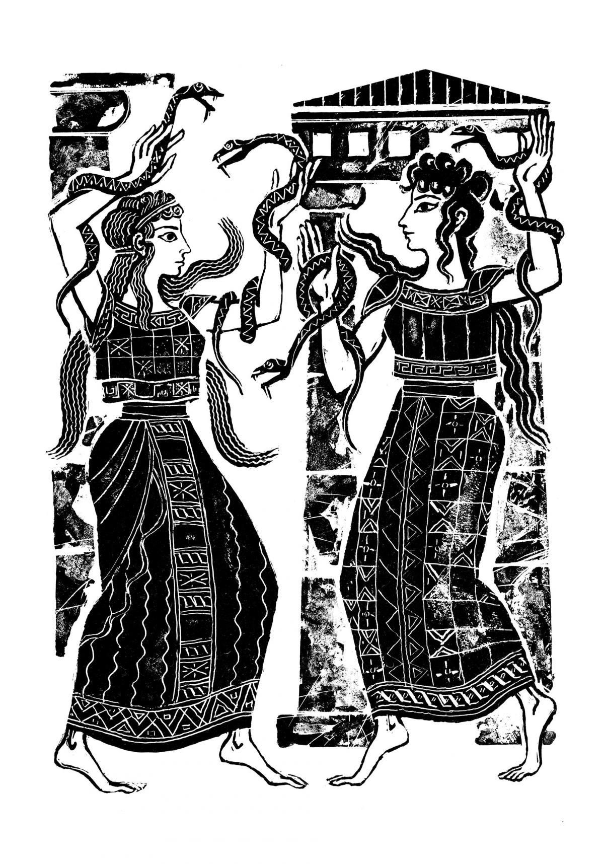 илюстрация от В дворците на Кносос