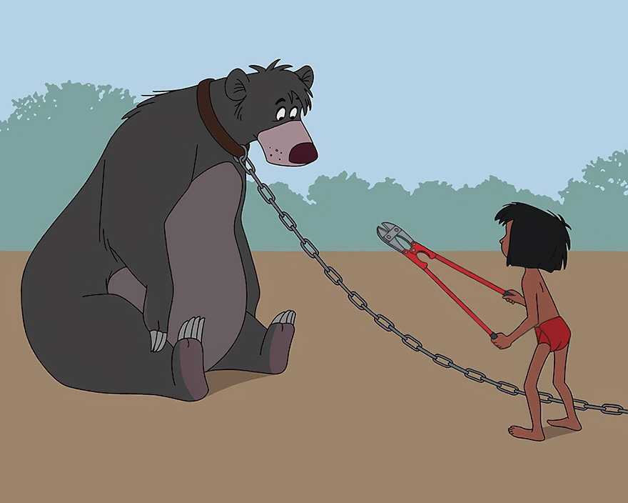 Alt Disney: Илюстратор прерисува кадри от любими анимации