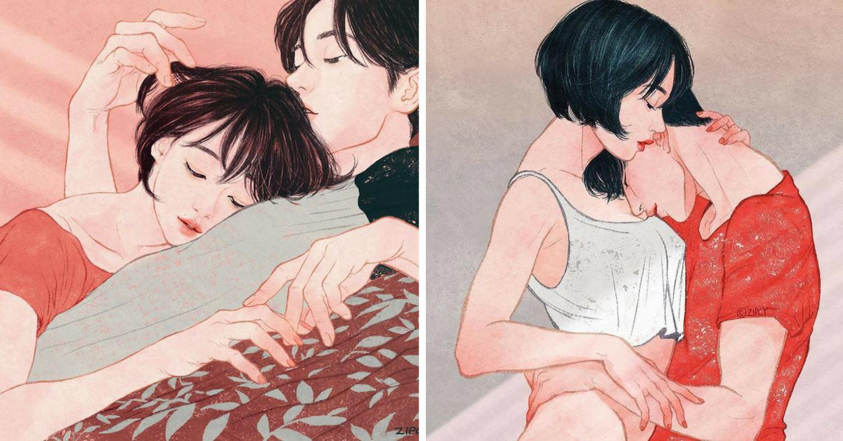 Корейска илюстраторка рисува нежни, интимни моменти