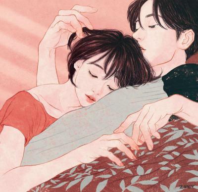 Корейска илюстраторка рисува нежни, интимни моменти. Така че (почти) да ги почувстваме