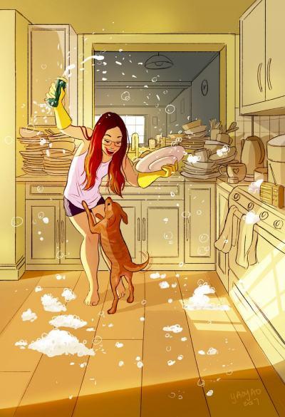 Самотата като щастие – в илюстрациите на Yaoyao Ma Van As