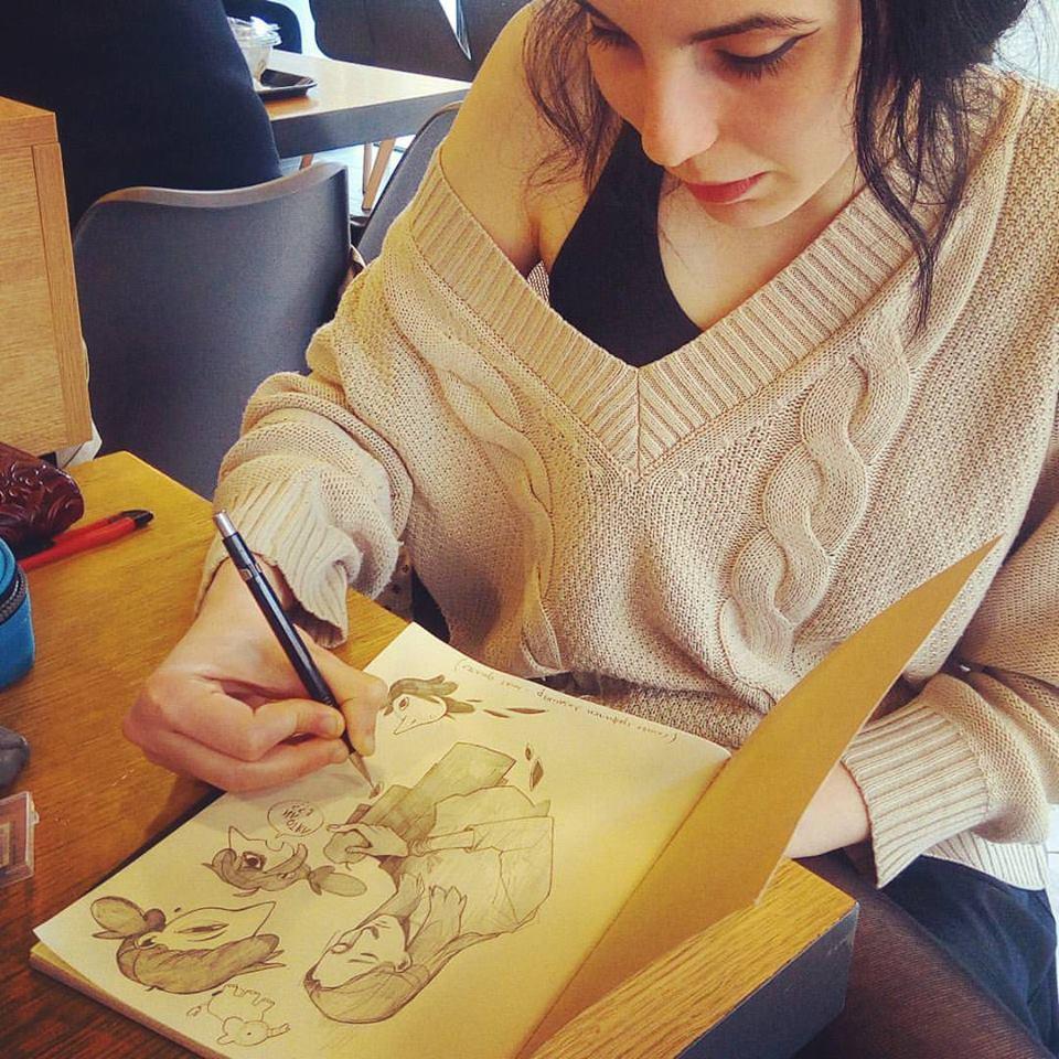 Дияна Нанева рисува