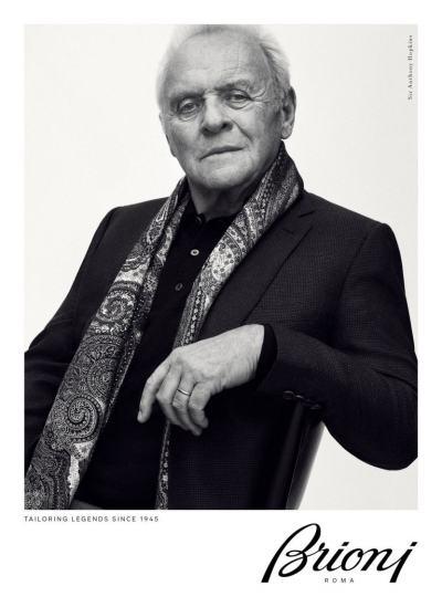 """Сър Антъни Хопкинс за Brioni: 79-годишният актьор """"изигра"""" висока класа без капка снобизъм за модна кампания"""