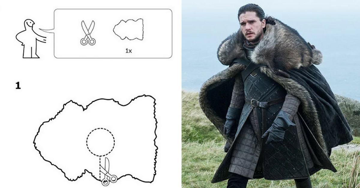 """Как да си направим наметало като от """"Игра на тронове"""" - илюстровано упътване"""