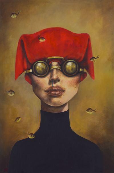 Най-експресивните женски лица – в картините на Afarin Sajedi