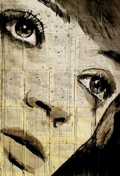 """Крехки колажи """"с минало"""" – нарисуваните с капки черно мастило върху избелели ръкописи и нотни листа от Луи Жовер"""