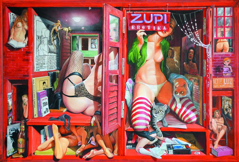 Между ярки графити и комикси от 60-те: провокативните илюстрации на бразилеца Francisco José de Souto Leite