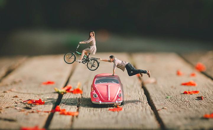младоженците са миниатюрни