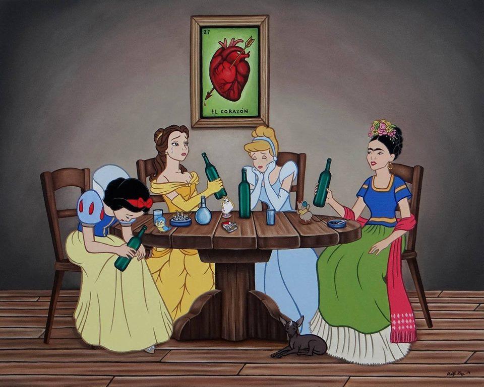 Мексикански артист рисува другата страна на приказката (илюстрации)