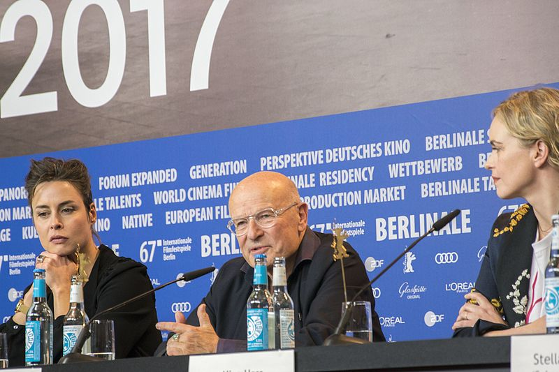 Susanne Wolff, Volker Schlöndorff and Nina Hoss at the press conference of Return to Montauk at the 2017 Berlin International Film Festival
