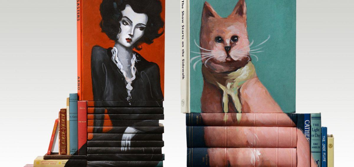 книжните скулптури на Mike Stilkey