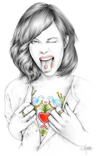 По френски деликатни (и рисувани на ръка)- илюстрациите на Hélène Cayre
