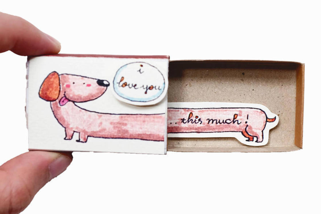 обяснения в любов (картички) колкото кибритени кутийки
