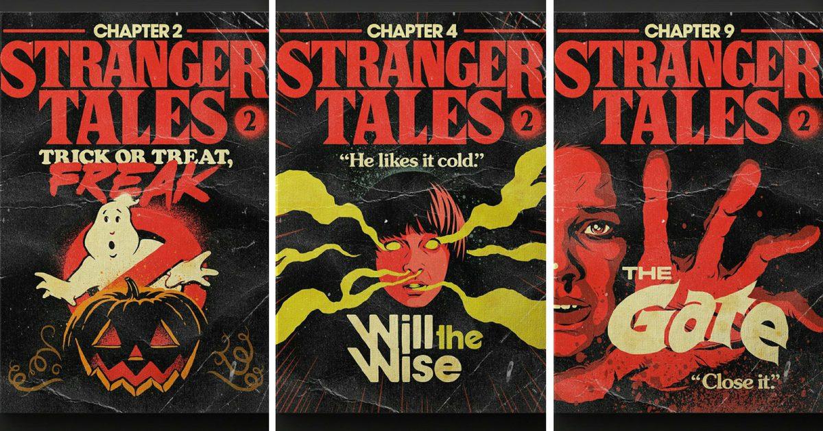 """Сериалът """"Странни неща"""" 2 (Stranger Things 2) претворен в плакати"""