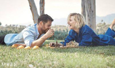 """Кейт Бланшет и Крис Хемсуърт – приятели, макар и """"от двете страни на барикадата"""" (интервю и фотосесия за австралийския Vogue)"""