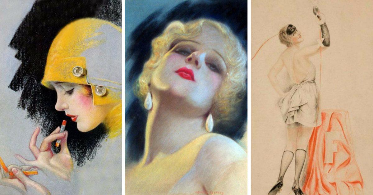 пастелни портрети от Чарлз Гейтс Шелдън