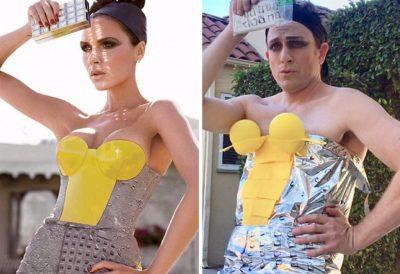 Комедиен актьор пародира вкуса към екстравагантно облекло на звездите (снимки)